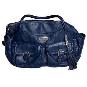 Lily Jade Blue Leather Elizabeth Big Diaper Bag